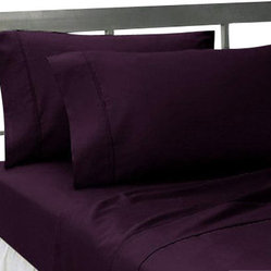 SCALA - 1000TC SOLID KING SIZE PURPLE COLOUR SHEET SET - We offer supreme quality Egyptian Cotton bed linens with exclusive Italian Finishing. These soft, smooth and silky high quality and durable bed linens come to you at a very low price as these come directly from the manufacturer. We offer Italian finish on Egyptian cotton, which makes this product truly exclusive, and owner's pride. It's an experience and without it you are truly missing the luxury and comfort!!