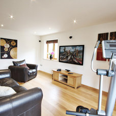 Traditional Home Gym by Olive Audio Visual