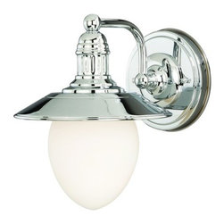 Vaxcel Lighting - Vaxcel Lighting W0051 Marina Bay 1 Light Bathroom Sconce - Features: