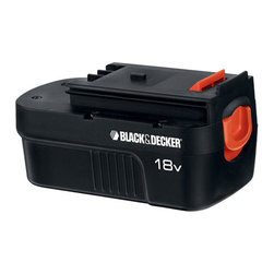 Black & Decker - Battery For 18V High Performance Drill - Provides up to 500 recharges, spring-loaded. For use with all spring-loaded battery style FireStorm and Black and Decker products.          This item cannot be shipped to APO/FPO addresses.  Please accept our apologies