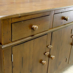 Custom Reclaimed Wood Buffet - Made by http://www.ecustomfinishes.com