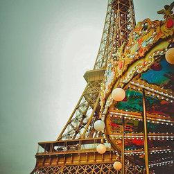 Carousel At The Eiffel Tower, Fine Art Photography Print, 8X12 - Taken April 2012, Paris, France