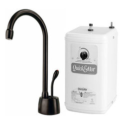 Westbrass - Oil Rubbed Bronze Lead Free Instant Hot Water Dispenser and Tank - Youll be surprised by how much time this instant hot water dispenser saves you. This oil-rubbed bronze faucet and heating tank immediately provide you with piping hot water to use in your kitchen. Your life is hectic; dont waste time boiling water.