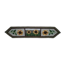 Patch Magic - Sun Burst Table Runner - 16 in. W x 72 in. LHandmade, Hand quilted Table Runner made from 100% Cotton. Machine washable, but for best care hand wash in cold water. Do not machine dry. Do not dry clean.