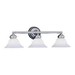Designers Fountain - Designers Fountain Opal Essence Bathroom Lighting Fixture in Chrome - Shown in picture: Bellevue Bathroom Light in Chrome finish
