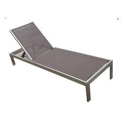 MangoHome - Outdoor Aluminum Textilene Patio Pool Lounge Resin 3-Piece Garden Chair Recliner - Outdoor Aluminum Textilene Patio Pool Lounge Resin 3-Piece Garden Chair Recliner Set