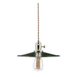 Reclamations - CAFE Retro Inspired, Pendant Light, (Without Handle) - The Cafe pendant light was inspired by a light salvaged from a vintage Boston diner.