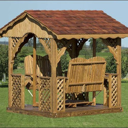Fifthroom - Wood Gable Gazebo Swing -