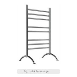 Electric Heated Freestanding Towel Warmer - The ultimate indulgence after a steam bath or shower is wrapping yourself in a freshly warmed towel. Mr. Steam's Series 300 towel warmers are available in free standing and wall mounted options, providing a luxury you won't want to resist. Made of only the highest quality stainless steel, these units are sure to please the most discerning decorator with graceful design.