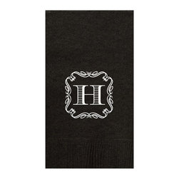 Frontgate - Personalized Guest Towels - Mix and match or coordinate sizes and colors for any occasion. Three-ply paper construction. Choose from an array of bright colors and monogram styles. Coordinates with Personalized Disposable Barware collection. One-time use only. Add an extra-special elegant touch to a party, wedding, shower, or family gathering with personalized napkins. Available in an array of bright and neutral colors, monogram styles, and sizes, the event staples deliver a unique flair with a disposable convenience essential for hosting a large group. . . . . . Personalized items are nonreturnable.