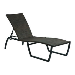 Frontgate - Skye Outdoor Chaise Lounge with Cushion, Patio Furniture - Ideal for any environment, including oceanfront and saltwater destinations. Durable aluminum frames woven with rich black walnut high-quality resin wicker. Specially formulated high-quality resin provides superior UV resistance and is formulated for a realistic look and feel. Adjusts to five positions, from upright to reclined. Arrives with a plush cushion covered in exclusive Sunbrella&reg fabrics, the finest solution-dyed, all-weather material available. Relaxing on the Skye Chaise Lounge from Summer Classics is a perfect way to spend a summer day. This lightweight, sturdy, and stackable chaise is fully handwoven with high-quality resin wicker, making this collection perfect for worry-free coastal enjoyment or any outdoor setting.Part of the Skye Collection by Summer Classics&reg.  . . . . Note: Due to the custom-made nature of the cushions, any fabric changes or cancellations made to the Skye Collection must be made within 24 hours of ordering.