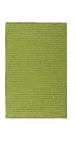 Colonial Mills - Colonial Mills Simply Home Solid H271 Bright Green Rug H271R144X180S 12x15 - Practical. Colorful. Versatile. Maintenance-free. Simply pick from 37 colors to find the perfect solid-color indoor/outdoor rug for your space.