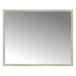 """Posters 2 Prints, LLC - 71"""" x 57"""" Libretto Antique Silver Custom Framed Mirror - 71"""" x 57"""" Custom Framed Mirror made by Posters 2 Prints. Standard glass with unrivaled selection of crafted mirror frames.  Protected with category II safety backing to keep glass fragments together should the mirror be accidentally broken.  Safe arrival guaranteed.  Made in the United States of America"""