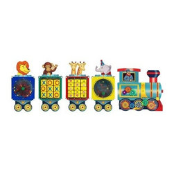 Anatex Busy Train Activity Panel - All aboard for educational fun with the Anatex Busy Train Activity Panel! This train has five different activity panels with gears tic-tac-toe a flipper game a paddle wheel and a traffic memory game. In a play area or a waiting room this train's bright colors and friendly characters will attract children and keep them interested. About Anatex:The first toy company to produce the Rollercoaster wire bead maze frames in North America Anatex has continued their practice of bringing kid-favorite educational toys to the market. Using high-quality materials they produce innovative award-winning products to keep both parents and children happy. Their Rollercoaster toy has won the Parents' Choice Classic award and is also a Dr. Toy Best Classic Toys winner. With high-quality materials and innovative products Anatex is a trusted leader in the educational toy market.