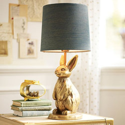 The Emily + Meritt Brass Bunny Table Lamp - This chic and whimsical lamp would definitely add beauty and visual delight to a little girl's room.