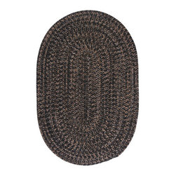 Colonial Mills - Hayward Black Oval: 5 Ft. x 8 Ft. Oval Rug - - Establish a rich, yet casual d�cor with the warm, heathered highlights in this versatile tweed rug design.  - Vacuum with hard surface attachment only. Spot clean with any common household cleaner  - Primary Colors: Black  - Secondary Colors: Neutral  - Material: 75% Polypropylene / 25% Wool  - Traditional  - Multi  - Wool  - Reversible  - Made in USA  - See packaging for warranty details Colonial Mills - HY19R060X096
