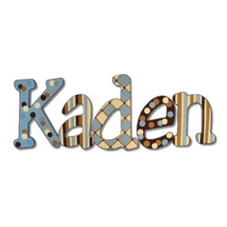 RR - Kaden Preppy Hand Painted Wall Letters - Kaden Preppy Hand Painted Wall Letters