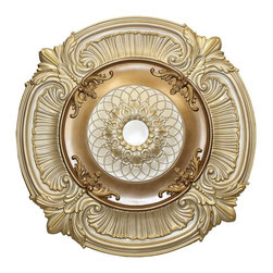uDecor - MD-9023-DZ Ceiling Medallion - Ceiling medallions and domes are manufactured with a dense architectural polyurethane compound (not Styrofoam) that allows it to be semi-flexible and 100% waterproof. This material is delivered pre-primed for paint. It is installed with architectural adhesive and/or finish nails. It can also be finished with caulk, spackle and your choice of paint, just like wood or MDF. A major advantage of polyurethane is that it will not expand, constrict or warp over time with changes in temperature or humidity. It's safe to install in rooms with the presence of moisture like bathrooms and kitchens. This product will not encourage the growth of mold or mildew, and it will never rot.