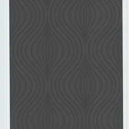 Graham and Brown - Zara Wallpaper - Black - This soft feminine contemporary geo creates a subtle motion on the wall, with the in-register emboss embellishing the effect and adding durability.