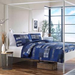 Eddie Bauer Eastmont Cotton Reversible 3-piece Quilt Set -
