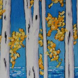 Artist Christi M. Dreese Paintings - Birch Tree Series