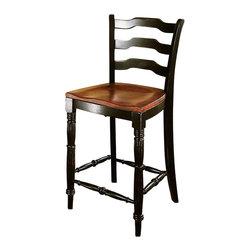 Hooker Furniture - Hooker Furniture Indigo Creek Counter Stool in Rub-Through Black - Hooker Furniture - Bar Stools - 33275350 - Features: