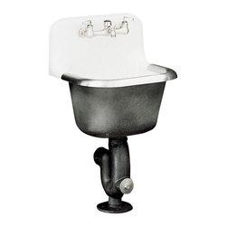 "KOHLER - KOHLER K-6716-0 Bannon Service Sink with Rim Guard and Back Drilled on 8"" Center - KOHLER K-6716-0 Bannon Service Sink with Rim Guard and Back Drilled on 8"" Centers, 24"" x 20-1/4"""