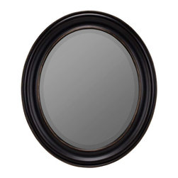 Cooper Classics - Cooper Classics Townsend Mirror, Black with Gold Highlights - Complete the look of any decor with the lovely Townsend mirror. This beautiful beveled wall mirror features a distressed black finish with brown undertones that will make a wonderful addition to any decor.