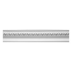 Renovators Supply - Cornice White Urethane Hayes - Cornice - Ornate | 12410 - Cornices: Made of virtually indestructible high-density urethane our cornice is cast from steel molds guaranteeing the highest quality on the market. High-precision steel molds provide a higher quality pattern consistency, design clarity and overall strength and durability. Lightweight they are easily installed with no special skills. Unlike plaster or wood urethane is resistant to cracking, warping or peeling.  Factory-primed our cornice is ready for finishing.  Measures 4 inch H x 94 inch L.