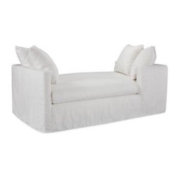 Lee Industries Nandina Daybed/Double Chaise - I love the contrast of the white for outdoor spaces. This piece is perfect for lounging or conversation.