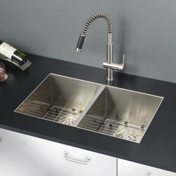 Ruvati - Ruvati RVC2339 Stainless Steel Kitchen Sink and Stainless Steel Faucet Set - Ruvati sink and faucet combos are designed with you in mind. We have packaged one of our premium 16 gauge stainless steel sinks with one of our luxury faucets to give you the perfect combination of form and function.