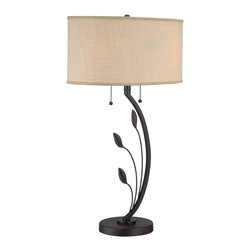 Quoizel - Quoizel Q1507T Portable Table Lamp - Quoizel portables come in a variety of styles, finishes and materials to suit any home decor.  Choose from fabric, metal or even one of our Quoizel Naturals shades, with bamboo, onyx or agate stone, to name a few.  Look to our portables to add the finishing touch to your home's style.