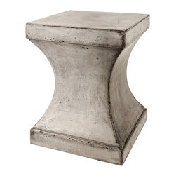 Repose Home - Svelte Side Table - Stone and natural fibers cements make this side table simple and practical. Maintain table's honed beauty and natural intonations with any protective wax or stone floor polish. Handmade in an eco-friendly Zero emission facility. Indoor and protected outdoor use.
