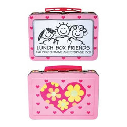 WL - 4 x 6 Inch Pink Lunch Box/Photo Frame with Hearts and Flower Design - This gorgeous 4 x 6 Inch Pink Lunch Box/Photo Frame with Hearts and Flower Design  has the finest details and highest quality you will find anywhere! 4 x 6 Inch Pink Lunch Box/Photo Frame with Hearts and Flower Design  is truly remarkable.