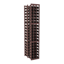 Wine Racks America - 3 Column Double Deep Cellar in Pine, Walnut + Satin Finish - High capacity double deep wine racks are attractive, functional and efficient. Turn your unused space into wine storage with just one wine rack. Keep 9 cases of wine in only three columns. This wooden wine rack kit is perfect for creating maximum storage capacity from deep but narrow areas like pantries.