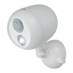 Mr. Beams - Mr. Beams Outdoor Security Spotlight, White (MB330) - Mr. Beams Outdoor Spotlight. Attach Anywhere—No Wiring Required!