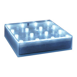 LumaBase Luminarias - LED BaseLite- Square - Illuminate your next event with BaseLite lighting. It provides up-lighting to any centerpiece, vase, bowl, crystal art or glass bottles. Ideal for wedding receptions, banquets, promotions, parties or any type of occasion. It will light for over 1000 hours.