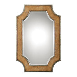 Uttermost - Besslen Walnut Mirror - Hang this elegant mirror vertically in a powder room or horizontally over your fireplace. Either way, the warm walnut frame provides a sophisticated contrast to the beautifully beveled mirror. It's an easy piece to work into your home.