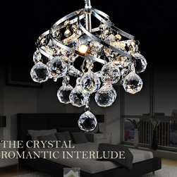 2013 New Design Creative Art DecoPendent Light K9 Crystal Ball Drop - Suitable for Living Room, Bedroom, Dinning Room, Hall.