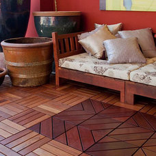 eclectic floor tiles by FlexDeck, LLC