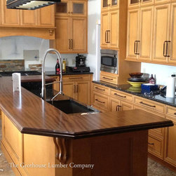 Sapele Mahogany Wood Counter in Newtown, Pennsylvania - Countertop Wood: Sapele Mahogany