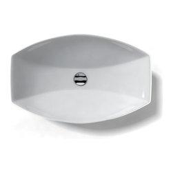 "WS Bath Collections - LVR 210 Vessel Sink 23.6"" - Ceramica by WS Bath Collections 23.6 x 15.0 Above The Counter Bathroom Sink/ Washbasin in ceramic white"