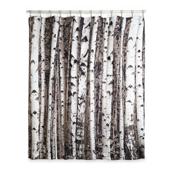 Beyond the Grove Shower Curtain, Birch - Shower in a grove of trees with this shower curtain.