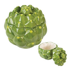 Summit - Artichoke Container Collectible Vegetable Ceramic Kitchen Container - This gorgeous Artichoke Container Collectible Vegetable Ceramic Kitchen Container has the finest details and highest quality you will find anywhere! Artichoke Container Collectible Vegetable Ceramic Kitchen Container is truly remarkable.