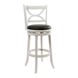 "Boraam - Boraam Florence 29"" Swivel Bar Stool in Distressed White - Boraam - Bar Stools - 43729 - Boraam's high quality products are well styled and priced right. Benefitting from years of experience in the industry. Boraam knows what you look for in quality furniture and takes pride in getting orders out as diligently as possible. Feel confident that Boraam will take your living space to another level."