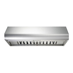 Kobe - Kobe CH7736SQB-1 36W in. CH77 Series Under Cabinet Range Hood - CH7736SQB-1 - Shop for Hoods and Accessories from Hayneedle.com! Rounded edge for a more casual styleQuietMode setting allows hood to operate at 300 CFM at a reduced sound level of 40 decibels (1.0 sone); other hoods operate at 6-8 sones at that CFM levelTime Delay System with 3-minute delay shutoff or immediate shutoffECO Mode runs the fan on the QuietMode setting for 10 minutes every hour removing excess moisture and microscopic particles that cause odors for cleaner fresher kitchen airTwo 3W LED lights with 3-level lighting for a bright safe cooking experienceEasy-to-empty catch areas and smooth hood surface for deep cleaning without disassembling the hoodExhaust options: Top 6-inch round Top 3.25 x 10 inch rectangular or Rear 3.25 x 10 inch rectangularAbout KOBE Range HoodsA world leader in quiet kitchen ventilation Kobe Range Hoods are designed by the Japanese-based Tosho & Company Ltd. Their products feature revolutionary QuietMode technology inspiring their motto: So Quiet You Won't Believe It's On! The result of extensive research and development the innovative QuietMode feature allows you to operate your range hood without irritating fan noise while cooking or entertaining guests in the kitchen. Kobe Range Hoods has been providing quality products and exceptional customer service in the United States and Canada for over 40 years.