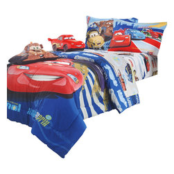 Store51 LLC - Disney Cars Track Burn Twin Comforter Sheets Bedding Set - FEATURES: