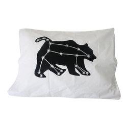 Urban Bird & Co. - Pillowcase, Ursa Major Constellation Print In Black On White Standard Pillowcase - Ursa Major single pillowcase