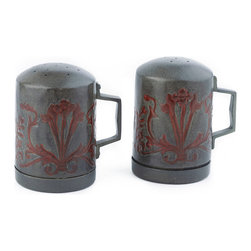 "Old Dutch International - ""Art Nouveau"" Stovetop Salt & Pepper Set - Style and seasoning go together with these handcrafted shakers. The design harks back to the Art Nouveau period to lend a charming touch to your stove top, kitchen counter or dining table."