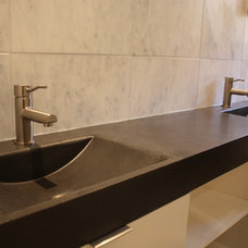 Contemporary Bathroom Sinks by everGreen Cast Stone